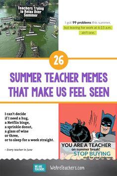These 26 Summer Teacher Memes Make Us Feel Seen. Teacher summer has highs and lows, you miss your students, you need a break, you ended up lazing around. These summer teacher memes nail it! - Education and lifestyle Teacher Humour, Teaching Humor, Teacher Stuff, Teaching Ideas, Teacher Inspiration, Classroom Inspiration, Summer Jokes, Classroom Humor, Education Humor