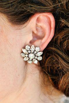 Wedding Bridal Earrings,Vintage Style Earrings,Rhinestone Bridal Earrings,Bridal Stud Earrings,Statement Bridal Earrings,Stud,Bride,SAVANNAH on Etsy, $32.00