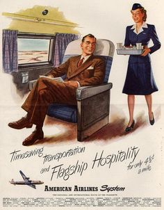 Timesaving Transportation and Flagship Hospitality for Only 4.5 Cents a Mile 1948