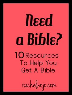 When you need a Bible for yourself or a friend, this list will help you find one!