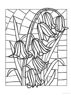 Best 23 Stained Glass Coloring Pages for Adults - Best Coloring Pages Inspiration and Ideas Stained Glass Flowers, Faux Stained Glass, Stained Glass Designs, Stained Glass Patterns, Mosaic Patterns, Flower Coloring Pages, Coloring Book Pages, Painting Templates, Printable Adult Coloring Pages