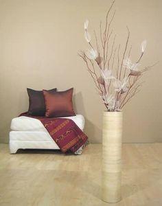 Stone Age Floor Vases Set. This original design features a dove grey ...