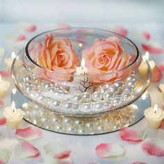 """10"""" Decorating Floating Candle Glass Bowls For Wedding Birthday Party Centerpiece Decor"""