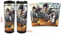 Taza De Té Café Leche Anime de acero inoxidable de doble cubierta utilería Attack On Titan