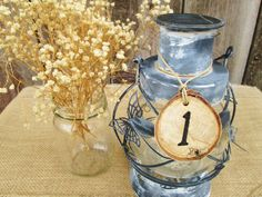 Wedding Table Numbers Wedding Numbers by DivineRusticCreation, $57.00