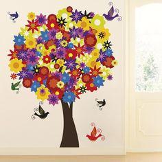 O adesivo de parede Árvore colorida é como o nome diz: Um adesivo para deixar o ambiente mais, colorido! com cores vivas; amarelo, vermelho e verde dão mais vida para onde você escolher aplicar, na sala, no quarto ou até mesmo na varanda coberta!   www.coleaqui.com/produto/5029976/Arvore-colorida