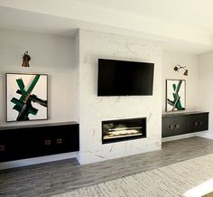 9 Impressive Tips: Fireplace With Tv Moldings peel and stick fireplace tile. - 9 Impressive Tips: Fireplace With Tv Moldings peel and stick fireplace tile. Fireplace Tv Wall, Linear Fireplace, Concrete Fireplace, Farmhouse Fireplace, Modern Fireplace, Fireplace Surrounds, Fireplace Design, Fireplace Outdoor, Craftsman Fireplace