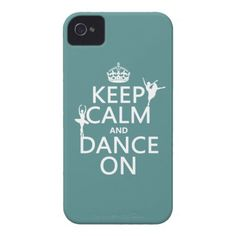Keep Calm and Dance On (ballet) (all colors) Case-Mate iPhone 4 Cases