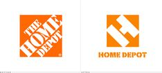 Home Depot Logo, Before and After