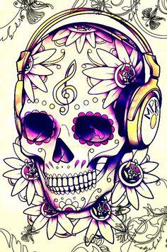 Musical Sugar Skull
