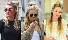Weekend Hair Inspiration: The Half-Bun  - ELLE.com