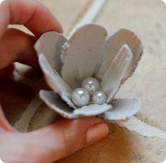 egg carton flowers - put them on a string of lights for Abigail's room