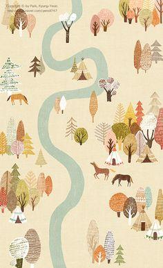 '숲' 이라는 단어를 매우 좋아하기도 하고,  '숲' 하면 소규모아카시아밴드 의 노래가 생각나요   고마워 함께 해줘서  고마워 웃게 해줘서  고마워 쉬게 해줘서  고마워 내 마음은 너의 숲  숲에서 살아 예쁜 꽃들도  숲에서 사는 커다란 나무도 숲에서 뛰노는 다람쥐도  모두 다 너의 친구들  고마워서 꽃을 피우고 고마워서 네게 말하네 고마워서 나빈 춤추고 고마워 내 마음은 너의 숲  - 소규모 아카시아 밴드 <숲> -