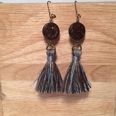 A personal favorite from my Etsy shop https://www.etsy.com/listing/260443613/blue-bark-earring-boho-chic-gypsie-vibe