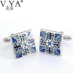 #BestPrice #Fashion V.Ya High Quality Cuff-links for Men Glossy Square Paint Color Copper Metal Shirts Cuff Links Exquisite Button Male…