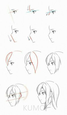 anime head reference drawing in drawings, guy drawing - anime drawing tutorial Manga Drawing Tutorials, Drawing Techniques, Drawing Tips, Art Tutorials, Manga Tutorial, Anime Drawings Sketches, Anime Sketch, Cute Drawings, Pencil Drawings