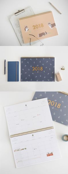 If you need to organize your schedules for different purposes, this adorable dual desk planner is just for you. Each month has 2 identical monthly calendars so that you can write your plans for 2 different purposes separately.