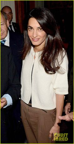 Amal Alamuddin Changes Her Last Name to Clooney, Gets Back to Work in Greece! | amal alamuddin goes back to work.