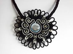 New!!! Black & White Sea Urchin Necklace. €50.00 I can change the length of the necklace if you want to. ➡ AquatharinaDesigns.etsy.com  #soutachenecklace #soutacheset #soutachemania #soutache #lit🔥 #victorian #zwartwit #bijuteriasfinas #blackandwhite #sieraden #prom #ketting #collar #bijouxfemme #bijouxhandmade #seaurchin #handgemaakt #handmade #sealife #fattoamano #jw #mermaid #victoriangoth #bridesmaid #wow😍 #shell