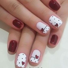 sDaynails red nail art designs pink nails heart nails acrylic nails Source by sumcocos Red Nail Art, Cute Nail Art, Nail Art Diy, Easy Nail Art, Pink Nails, Cute Nails, Pretty Nails, Nail Art Rose, Red Black Nails