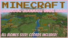 Seed: World Type: Infinite Found: April 2020 Found on Update: Bedrock/Better Together Version (Xbox, iOS, Android, Kindle, Oculus/. Minecraft Creations, Minecraft Houses, Biomes, Better Together, Savannah Chat, Seeds, Love You, Windows 10, Vr