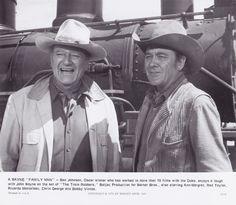 "john wayne, ben johnson, ""the train robbers"""