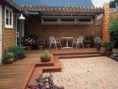 Wrap-around backyard deck