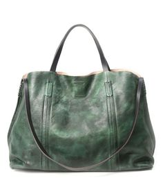OLD TREND Vintage Green Forest Island Leather Tote   zulily