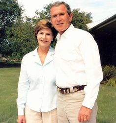 Former President George W. Bush and Former First Lady Laura Bush
