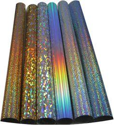 "SISER Holographic Heat Press Iron application Transfer Vinyl 6 roll each 20""x12"" #siser"