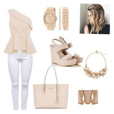 Work outfit by aniza-27 on Polyvore featuring polyvore, fashion, style, C/MEO COLLECTIVE, Lipsy, Alberto Guardiani, Michael Kors, Anne Klein, M&Co and The Limited