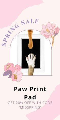 Capture those once in a lifetime moments of your fur baby's prints forever, with this Paw Print Pad. It's easy, clean and mess free. Mini Goldendoodle, Pet Paws, Large Dog Breeds, Once In A Lifetime, Green Materials, Spring Sale, Animal House, Baby Prints, It's Easy
