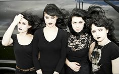Photos of the gothic band The Black Belles - Google Search
