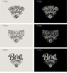 PURE-&-CRAFTED-FEST-PROPOSAL-LOGO Alex Ramon Mas Design http://www.alexramonmas.com