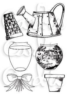 Pots and Vases A6 Clear Stamp