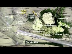 Interflora's expert florist, Karen Barnes, shows you how to recreate the look and feel of a celebrity styled floral wedding centrepiece using exquisite flowe. Crystal Garland, Asparagus Fern, Flower Video, Ivory Roses, Astilbe, Inspirational Celebrities, Centerpieces, Floral Wedding, Celebrity