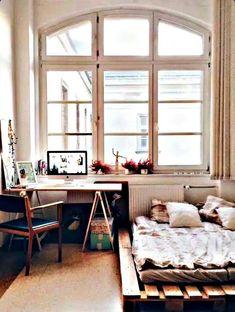 pallet board bed frame