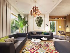 Garden Greens Add Personality to this Warm and Modern Apartment - - Antique Living Rooms, Living Room Modern, Living Room Designs, Living Spaces, Modern Apartment Design, Contemporary Apartment, Futuristisches Design, Deco Design, The Secret Garden