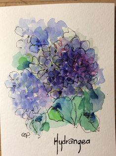 Purple Hydrangea Wat