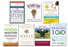 Inspirational, potentially life changing books: (1) The China study (2) Rethink Food: 100+ Doctors Can't Be Wrong (3) Food Over Medicine: The Conversation That Could Save Your Life (4) So. Why Become Vegan (5) The Food Revolution (6) Whole: Rethinking the Science of Nutrition (7) Healthy at 100 #vegan #vegetarian #health