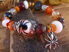 Spider Bracelet Halloween Jewelry Halloween by FeminineGenius