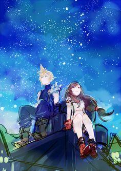 Final Fantasy VII - Cloud Strife x Tifa Lockhart - Cloti Final Fantasy Xv, Final Fantasy Characters, Final Fantasy Artwork, Fantasy Series, Tifa Lockhart, Cloud And Tifa, Cloud Strife, Pete The Cat, Tolkien