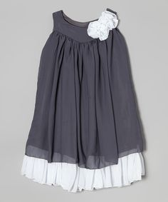 Another great find on #zulily! Gray & White Swing Dress - Infant, Toddler & Girls by Kid Fashion #zulilyfinds