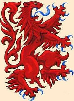 Rampant Lion. Scotland Forever.