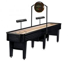 Brunswick Delray Shuffleboard Table is ready and waiting for you to bring your best game BilliardFactory.com/Brunswick-Delray-Shuffleboard-Table