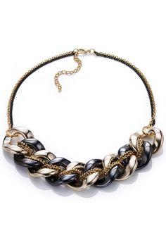 Stine necklace gold / anthracite - bpc selection - bonprix.at