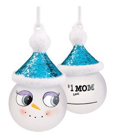 Take a look at this 'Number One Mom' Marker Snowman Ornament by Grasslands Road on #zulily today!