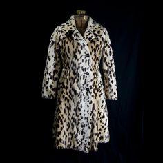 Vintage 1960s Faux Leopard Fur Coat by Safari Mod by madvintage