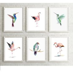 pink green decor- tropical decor ($75) ❤ liked on Polyvore featuring home, home decor, wall art, bird wall art, green wall art, paper wall art, pink home decor and tropical wall art