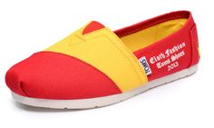 2013 Toms Red Yellow Shoes